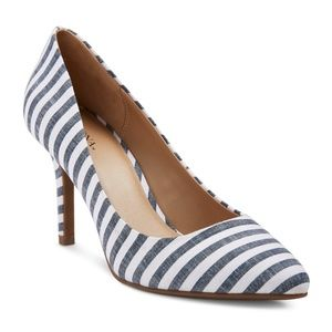 NEW Alexis Striped Pointed Toe Pumps